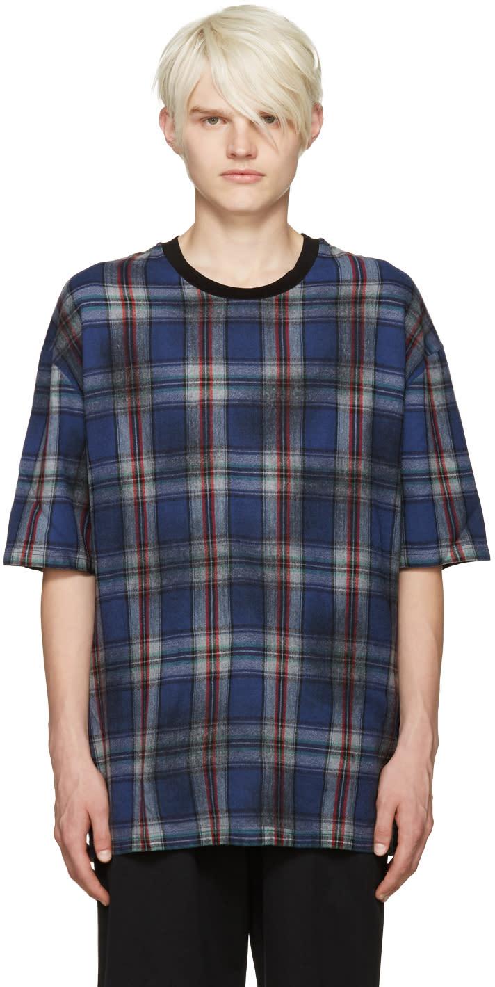 Lanvin Blue Wool Plaid T-shirt