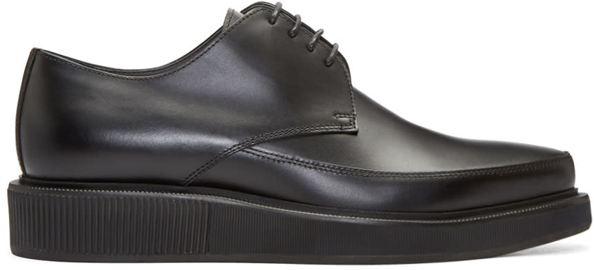 Lanvin Black Leather Creepers