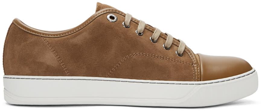 Lanvin Brown Nubuck Classic Tennis Sneakers
