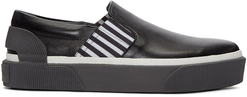 Lanvin Black Creeper Slip-on Sneakers