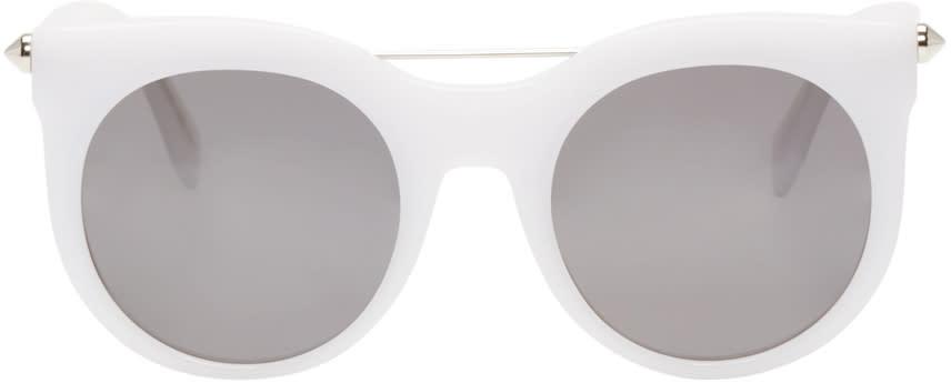 Alexander Mcqueen White Round Sunglasses