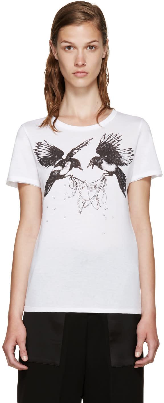 Alexander Mcqueen White Ravens T-shirt