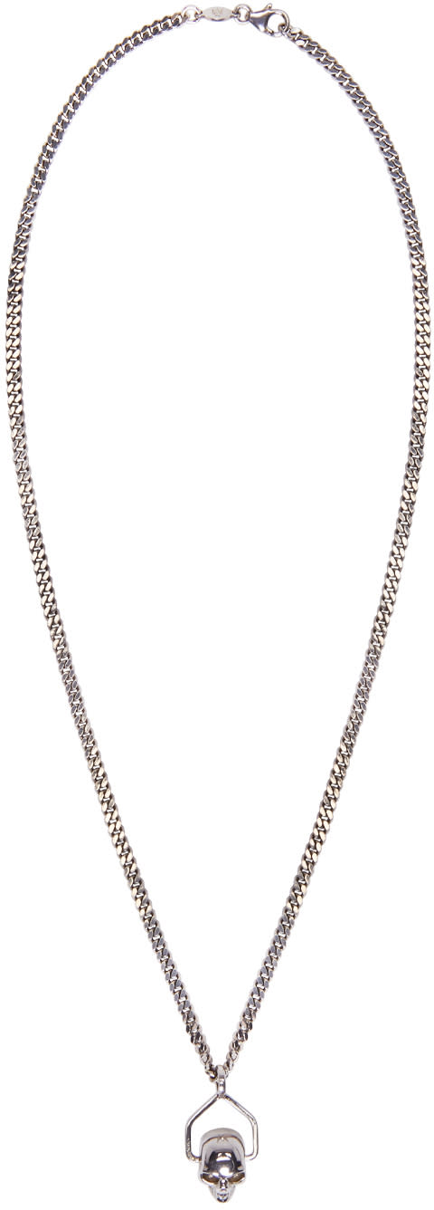 Alexander Mcqueen Silver Mini Skull Chain Necklace