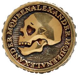 Alexander Mcqueen Silver Skull Coin Ring
