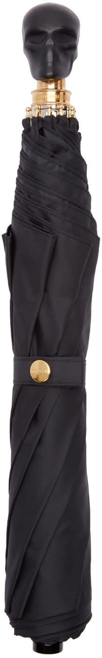 Alexander Mcqueen Black Leather Skull Umbrella