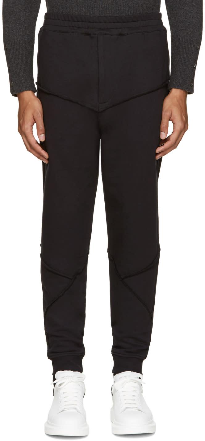 Alexander Mcqueen Black Raw Edge Lounge Pants