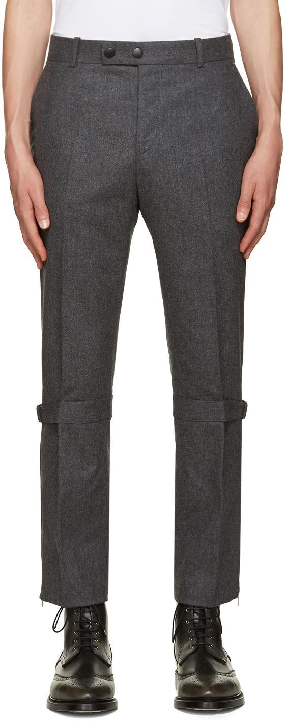 Alexander Mcqueen Grey Straps and Zips Trousers
