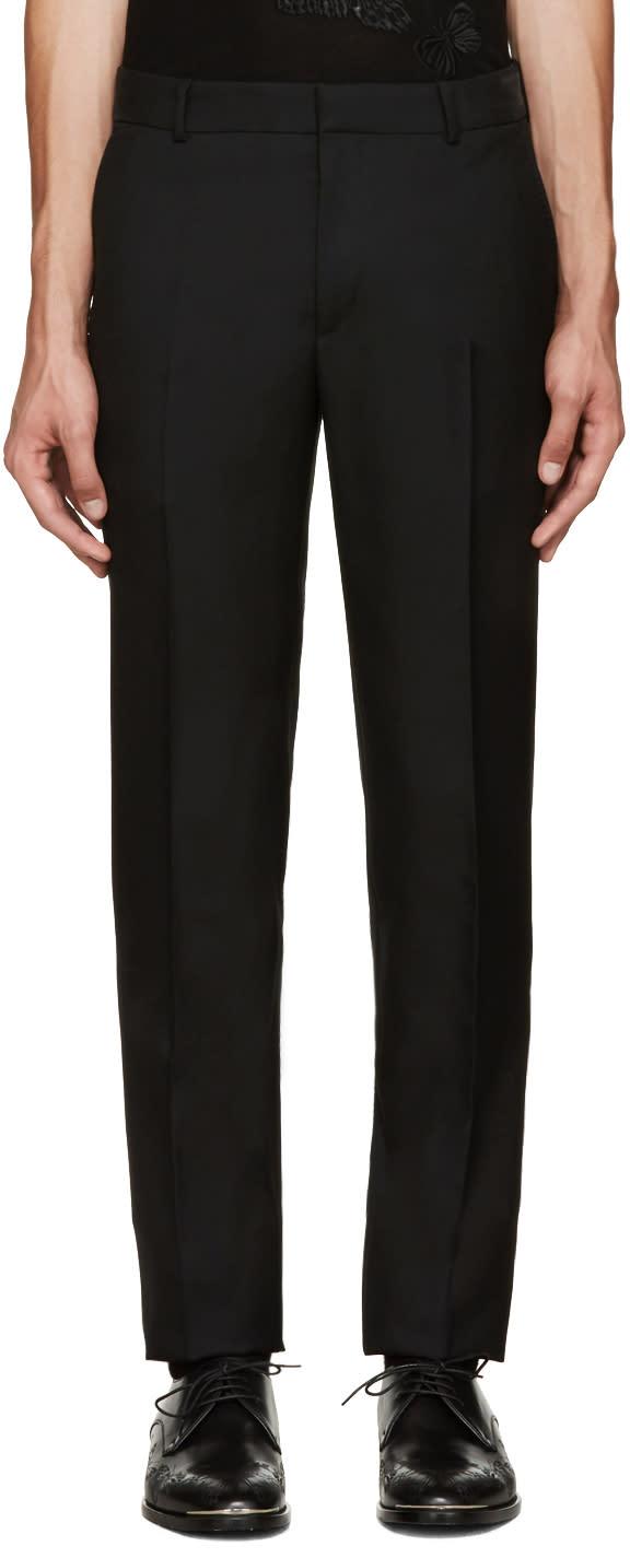 Alexander Mcqueen Black Wool Trousers