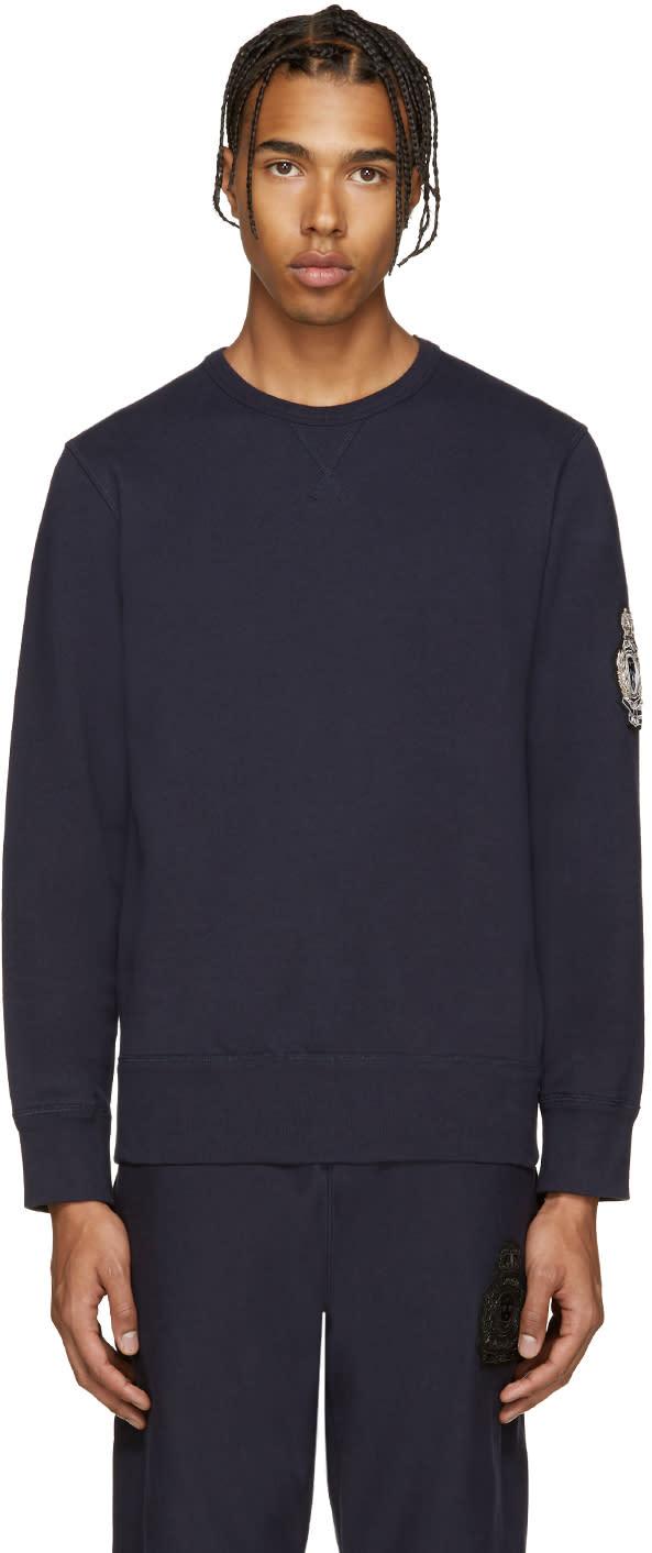 Alexander Mcqueen Navy Embroidered Sweatshirt