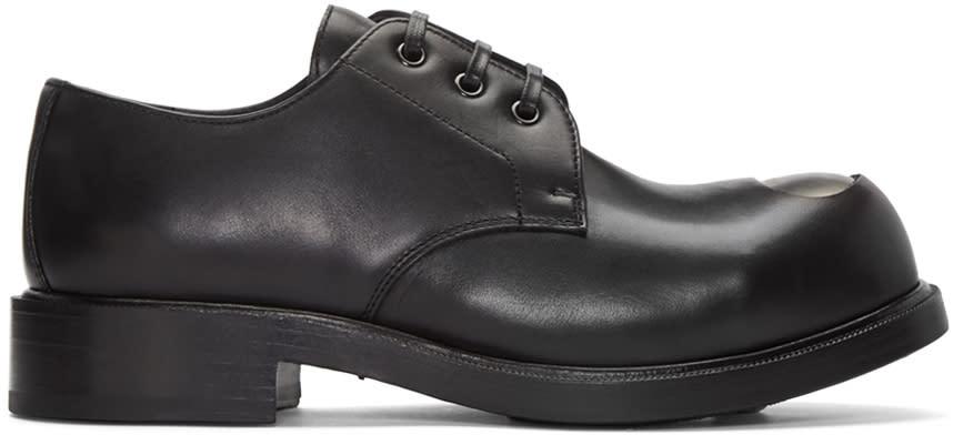 Alexander Mcqueen Black Steel Toe Derbys