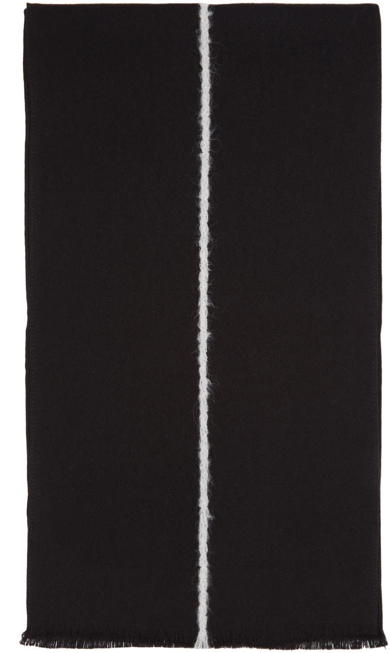 Paul Smith Black Single Stripe Scarf