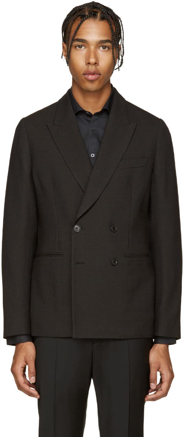 Paul Smith Black Textured Wool Blazer
