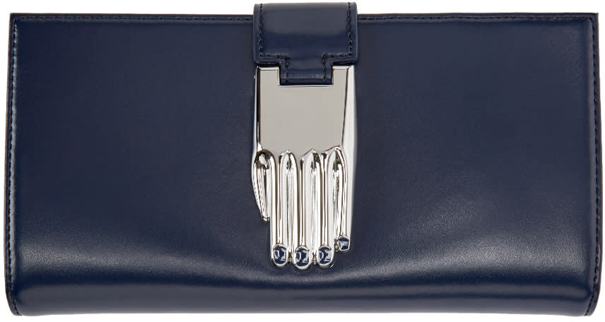 Opening Ceremony Navy Leather Misha Wallet