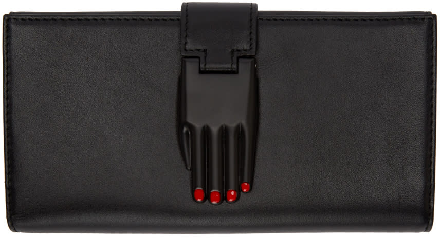 Opening Ceremony Black Leather Misha Wallet