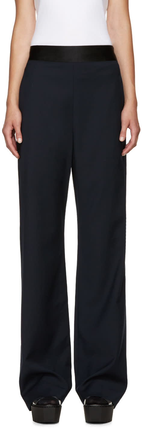 Opening Ceremony Navy Wide-leg Focal Trousers