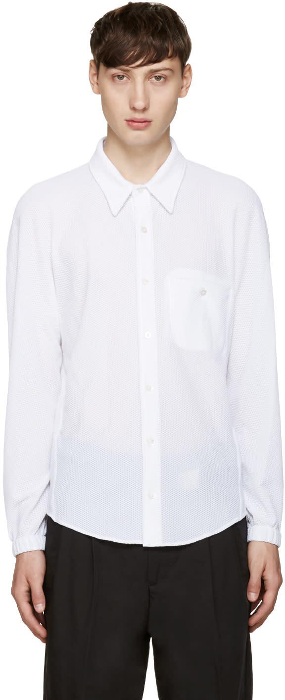 Opening Ceremony White Pique Dolman Shirt