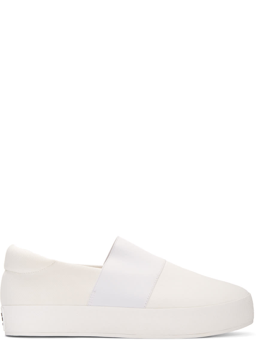 Opening Ceremony Ivory Classic Slip-on Sneakers