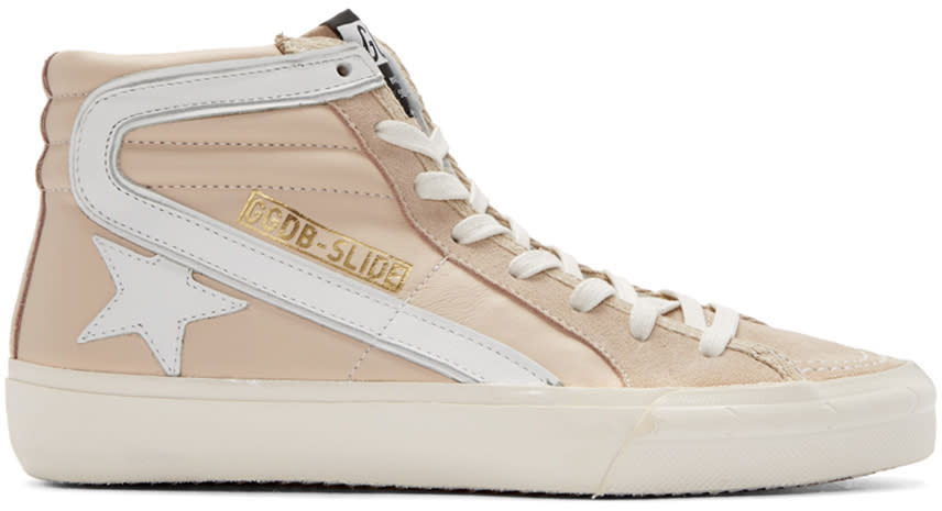 Golden Goose Pink Slide High-top Sneakers