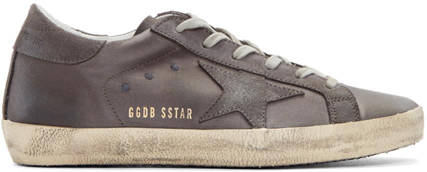 Golden Goose Grey Satin Superstar Sneakers