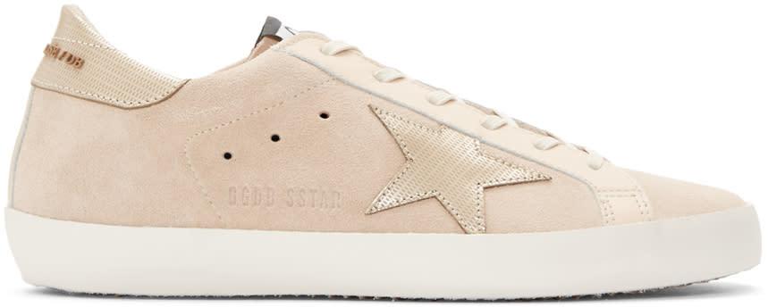 Golden Goose Beige Superstar Sneakers