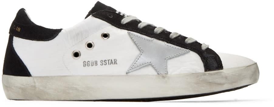 Golden Goose White Nylon Superstar Sneakers