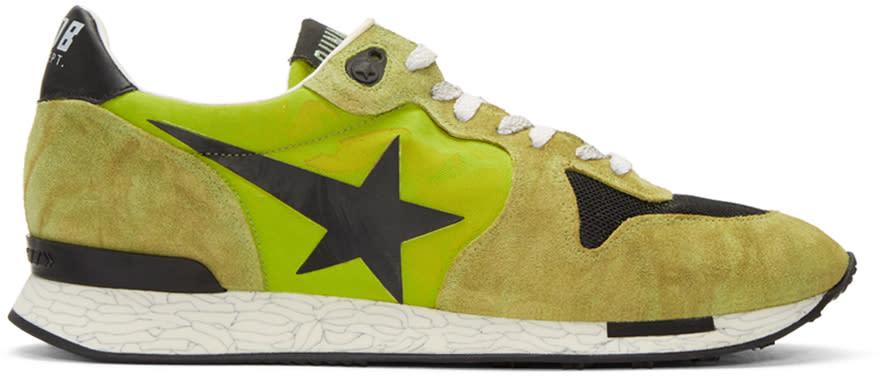 Golden Goose Green Running Sneakers