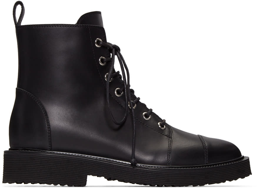Giuseppe Zanotti Black Hillary Ankle Boots