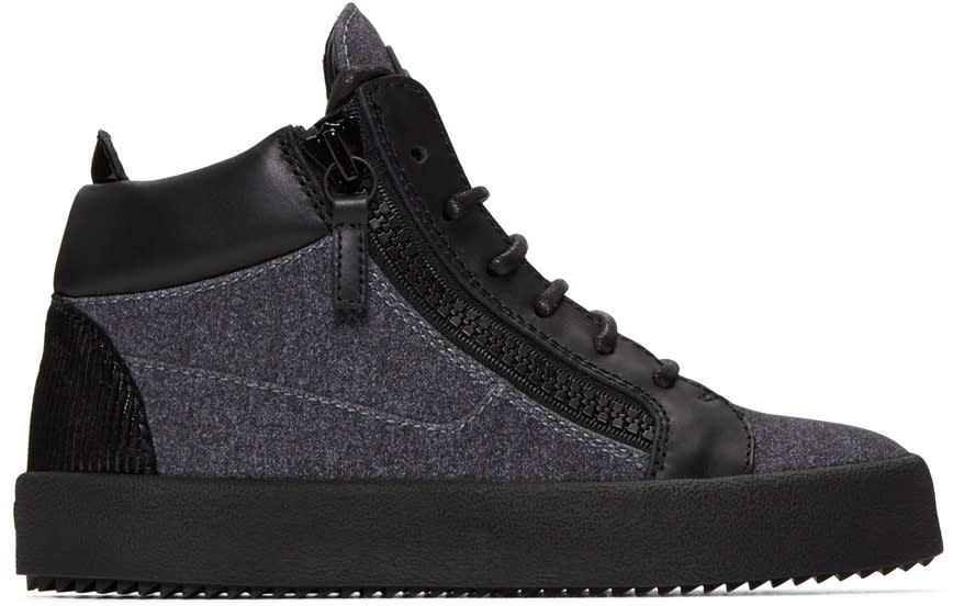 Giuseppe Zanotti Grey London High-top Sneakers