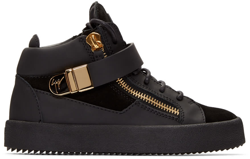 Giuseppe Zanotti Black London Mid-top Sneakers
