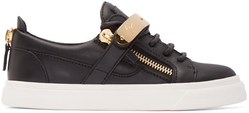 Giuseppe Zanotti Black Leather London Low-top Sneakers
