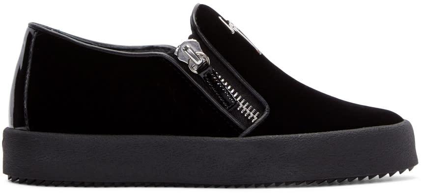 Giuseppe Zanotti Black Velvet Veronica Sneakers