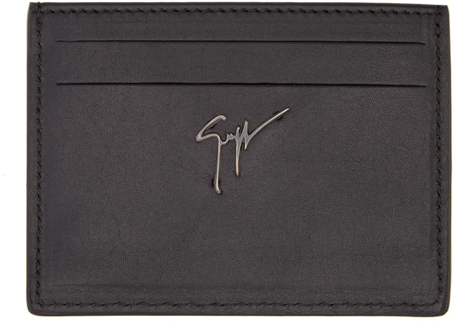 Giuseppe Zanotti Black Studded Card Holder