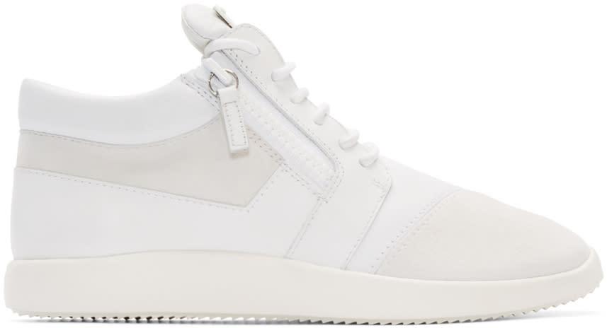 Giuseppe Zanotti White Singles Mid-top Sneakers