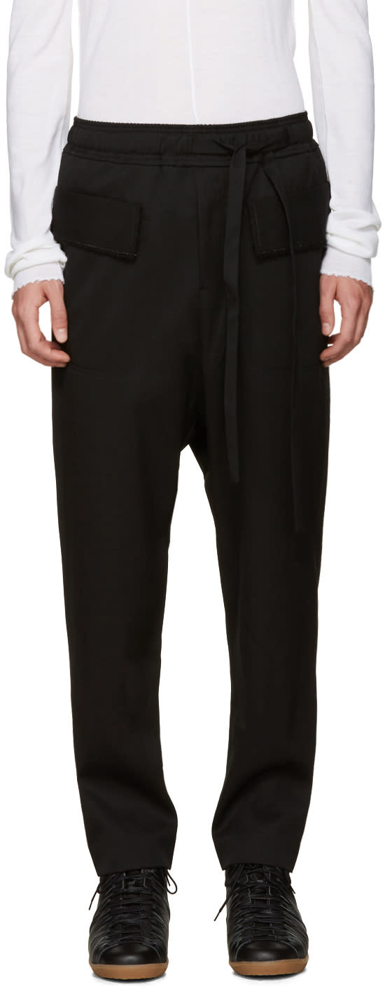 Damir Doma Black Wool Sarouel Trousers