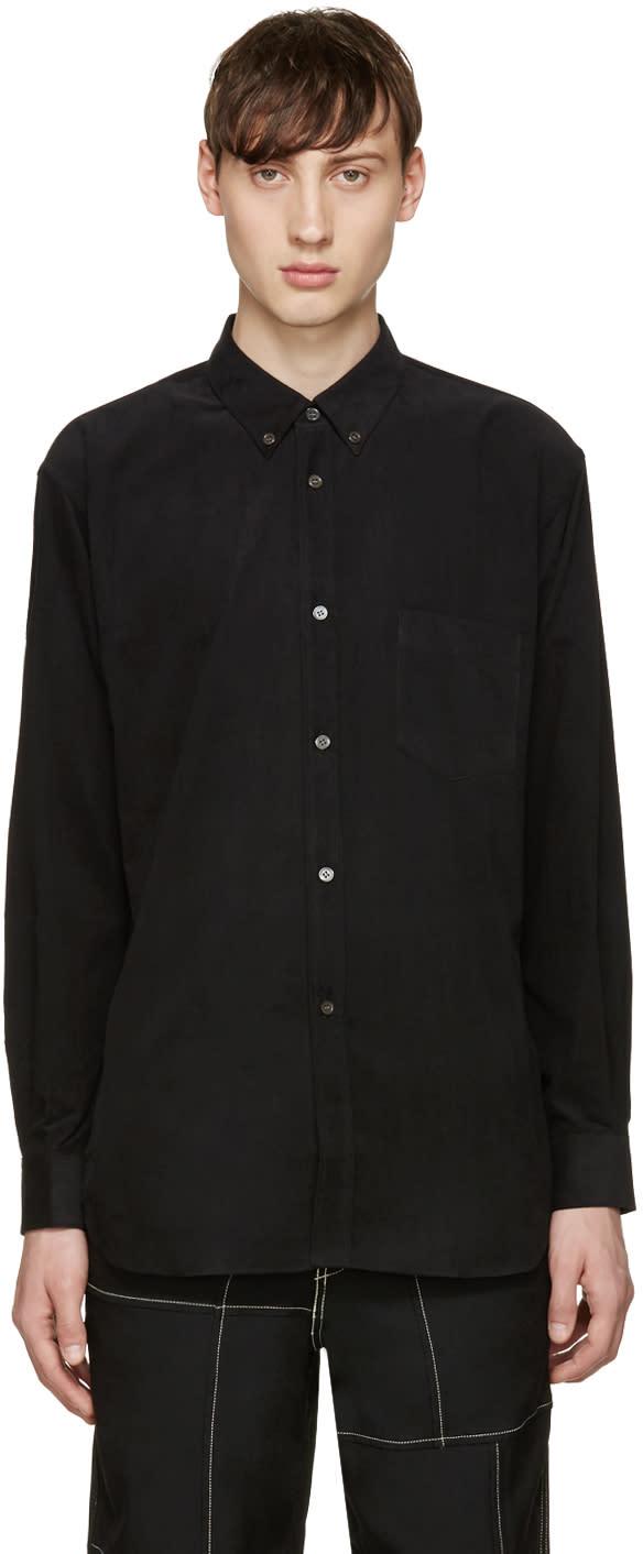 Comme Des Garcons Shirt Black Corduroy Shirt