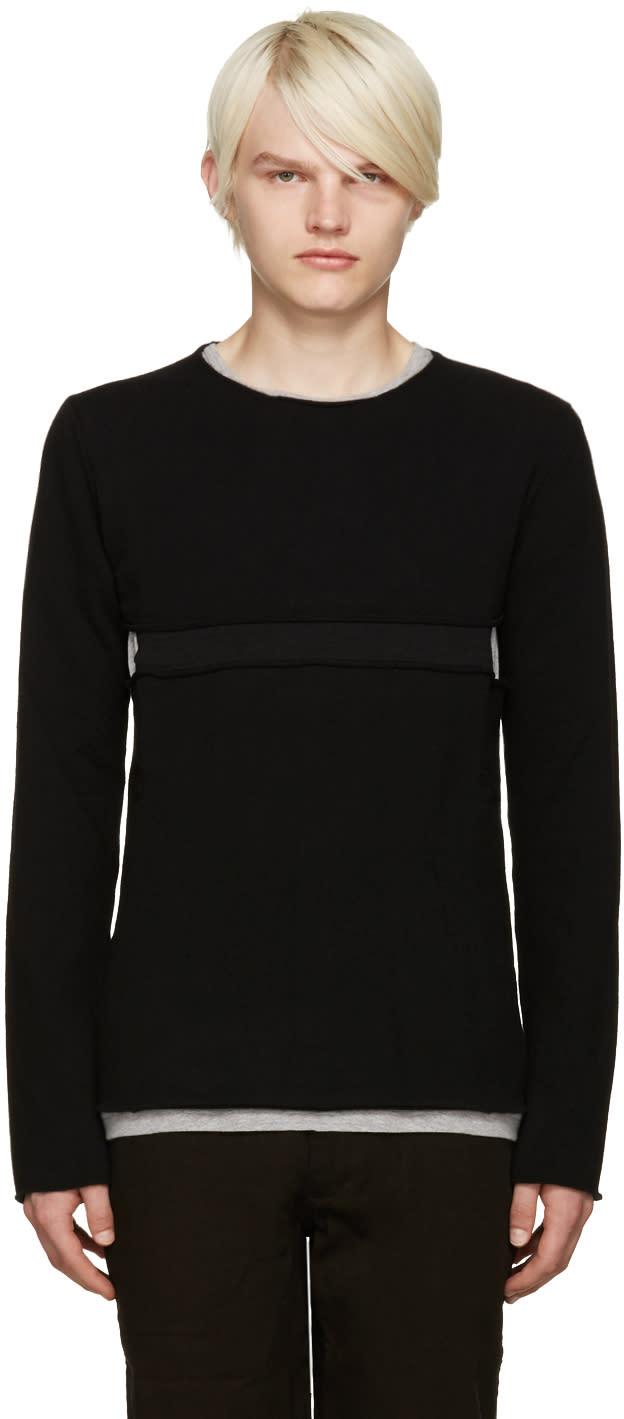 Comme Des Garcons Shirt Black Cut-out Sweater