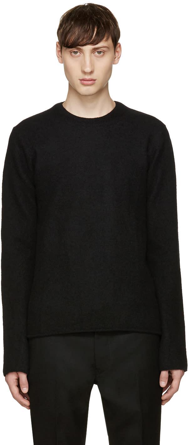 Comme Des Garcons Shirt Black Wool Crewneck