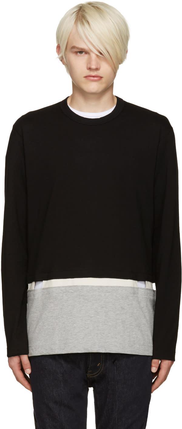 Comme Des Garcons Shirt Black Cut-out T-shirt