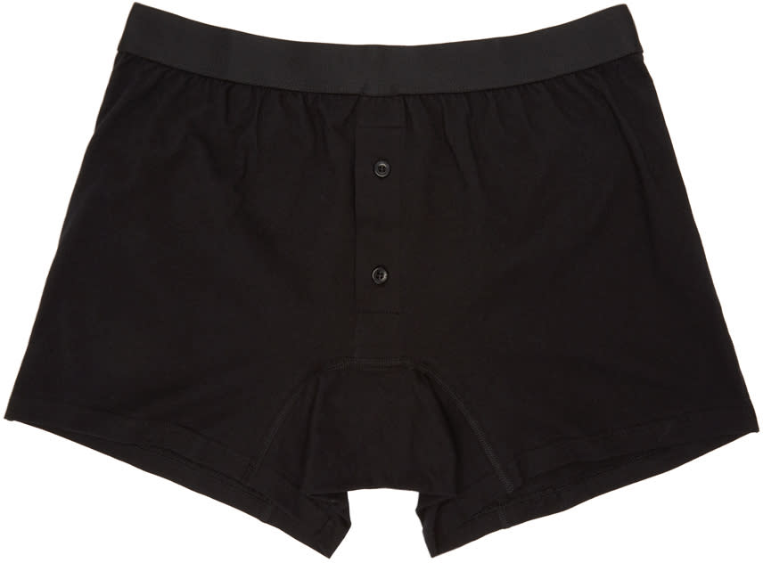 Image of Comme Des Garçons Shirt Black Button-fly Boxer Briefs