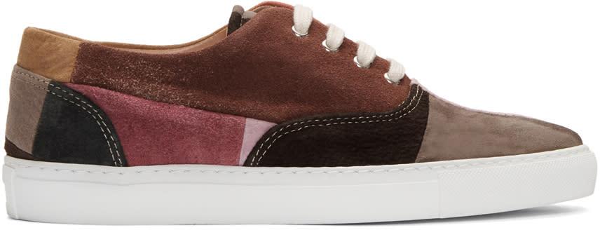 Comme Des Garcons Shirt Multicolor Suede Patchwork Sneakers