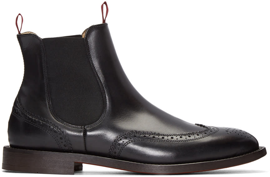H By Hudson Black Breslin Boots