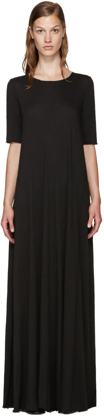 Raquel Allegra Black Jersey Maxi Dress