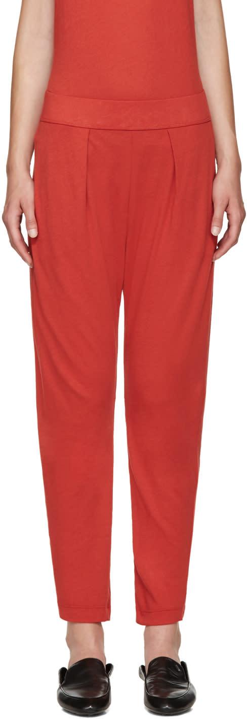 Raquel Allegra Red Easy Lounge Pants