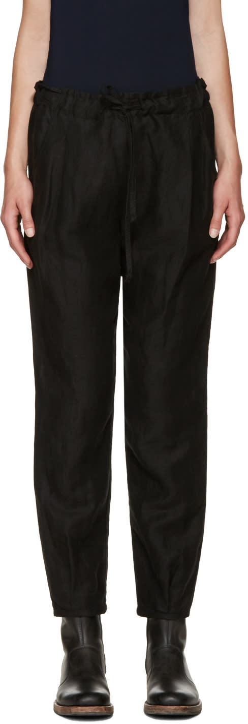 Raquel Allegra Black Drawstring Trousers