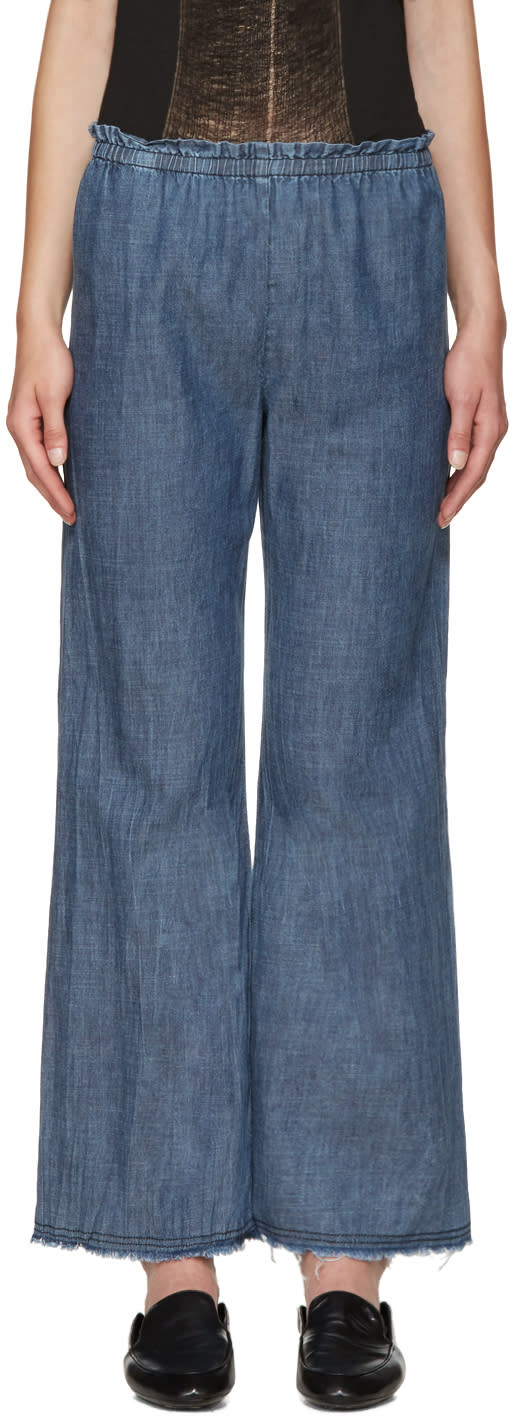 Raquel Allegra Blue Chambray Trousers