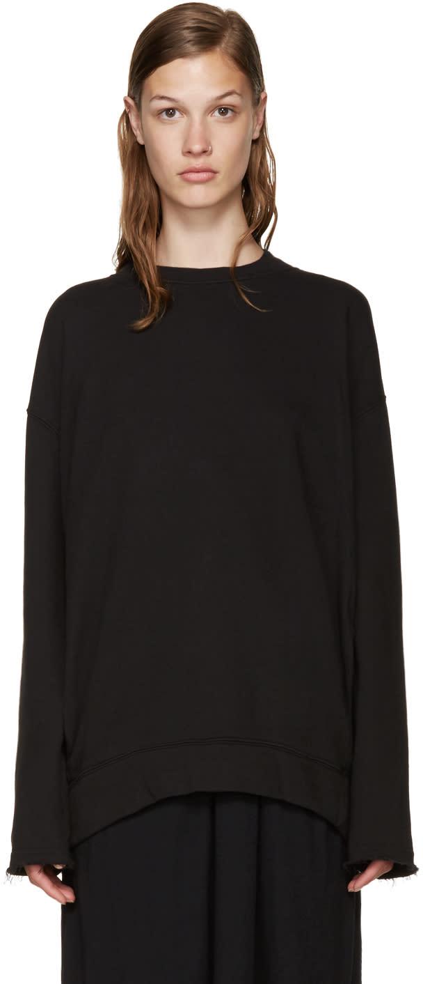 Raquel Allegra Black Pocket Pullover