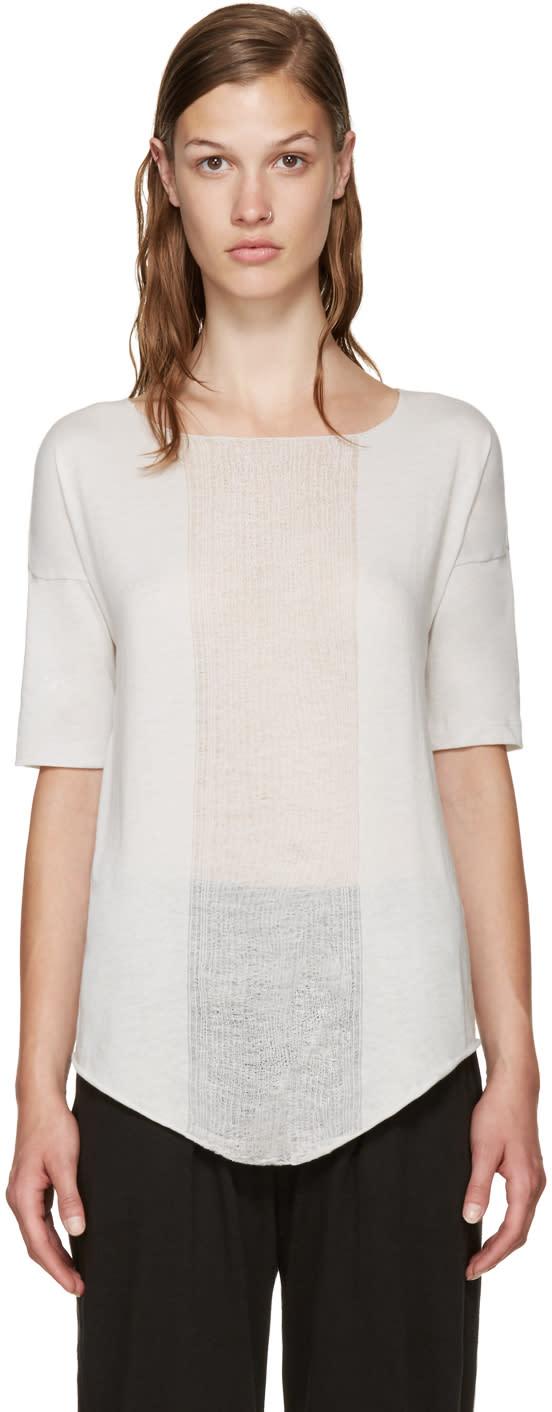 Raquel Allegra White Distressed Basic T-shirt