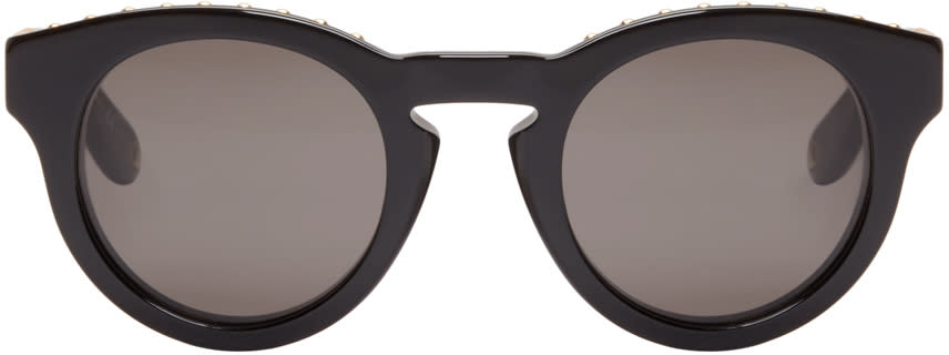 Givenchy Black Round Studded Sunglasses