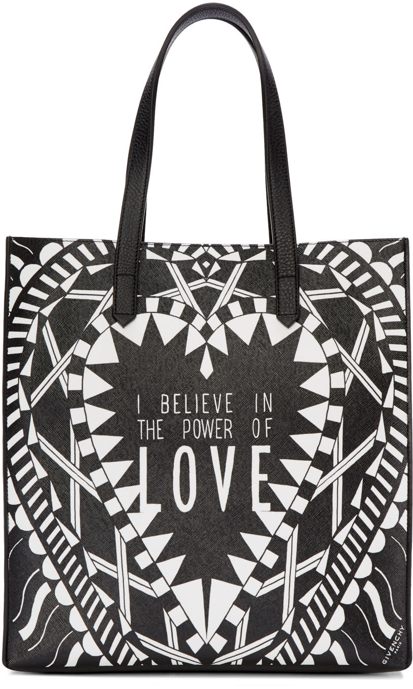 Givenchy Black and White Medium power Of Love Tote