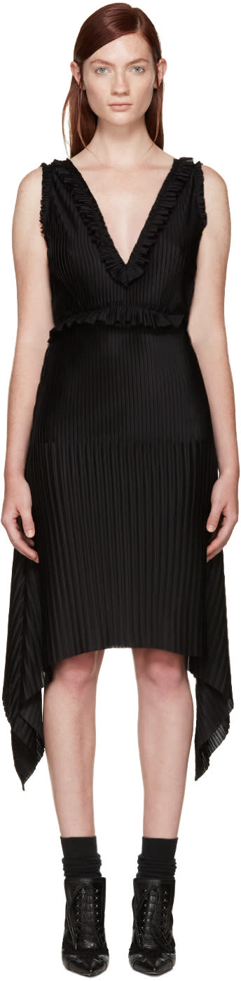 Givenchy Black Pleated Dress